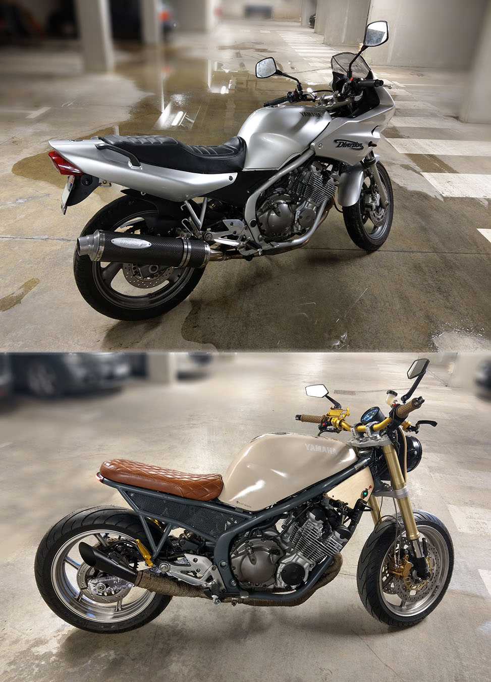 Photo finale de la moto custom